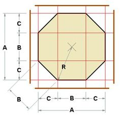 "A really handy octagon calculator for cushion quilting, crocheting octagon ""squares"" etc!"