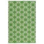 Brisa Lime Green 5 ft. x 7 ft. 6 in. Indoor/Outdoor Reversible Area Rug