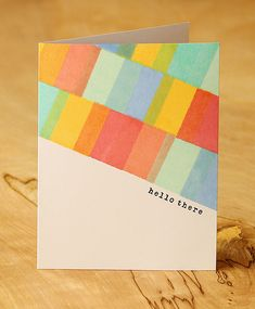 Hello There by Lisa Spangler: I really like the look of diagonal designs!