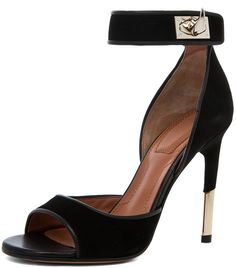 Dunke Suede Nappa Shark Lock Heel in Black - Lyst