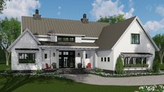 This farmhouse design floor plan is 2125 sq ft and has 3 bedrooms and has 2.50 bathrooms.