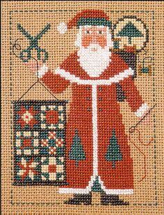 @amanda, it's Quilty Claus! :-D ---2005 Schooler Santa - Cross Stitch Pattern  by Prairie Schooler