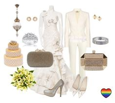 """""""Love Wins"""" by chicastic ❤ liked on Polyvore featuring Alexander McQueen, Pnina Tornai, Sophia Webster, Fountain, Valentino, Oscar de la Renta, Herend, Kobelli and Cartier"""