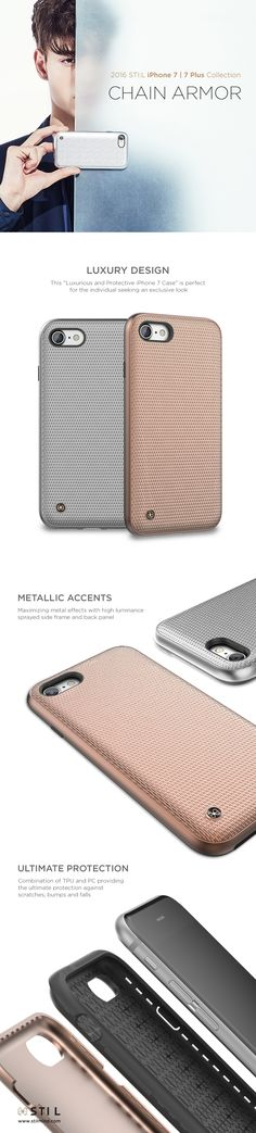 """CHAIN ARMOR"" is a glamorous and luxurious case for your #iPhone7 featuring a modern interpretation of chain mail armor gently moving along the delicate curves of the body. #iPhone7 #iphone7plus #iphone #stilmind #stilcase #stilphonecase #stil #apple #7plus #fashion #trend #item #design #mobile #phone #case #2016fw #2016collection #vegetableleather #italianleather #catalog #ebook"