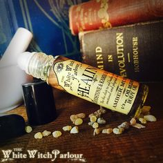 HEALING Elixir 1/3oz Body Oil Rollon. Scent of Amber Musk Charged with Bloodstone and Kambaba Jasper Crystals,Spritual Health, Soul Cleanse   www.whitewitchparlour.com