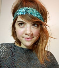 This tutorial is from a long time ago. and when I say long, I mean like before Christmas long. So excuse my belatedness! I meant to do th. Cute Diys, Cute Crafts, Kid Crafts, Laura Lee, Diy Headband, Headbands, Mermaid Sequin, Craft Corner, Diy Hair Accessories