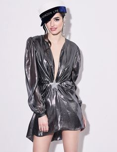 Stereo Dress Virtual Fashion, Silver Dress, High Fashion, Punk, Luxury, Shopping, Fall, Dresses, Autumn