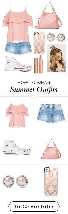 """Pink"" by hannank on Polyvore featuring Frame, BB Dakota, Converse, Casetify and Miu Miu"