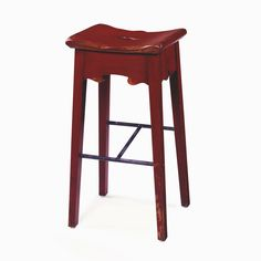 119 Tuscan Bar Stool In Cherry Barn Red By WrightTableCompany