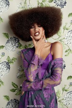 Sims and Coleman also did this Afro, and shut. shit. dowwwwn. | Zendaya Proved She's A Beauty Icon In This New Hair Shoot