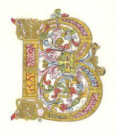 Psautier de Ramsey - manuscrit anglo-saxon de la fin du Xès - Winchester (British Library)