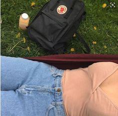 tank top kanken art hoe tumblr mom jeans