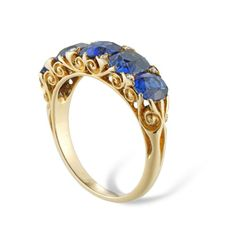 Rose Cut Diamond, Antique Rings, Stone Rings, Leather Case, Jewelry Shop, Period, Sapphire, Jewellery Rings, Victorian