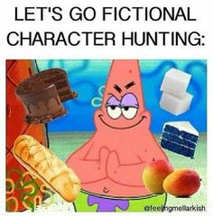 Let's go fictional character hunting.