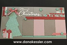 Two Page Scrapbooking Layout Christmas Holiday