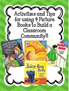This blog post gives creative activities and tips for using four picture books to build a respectful classroom community during those precious first few weeks of school!