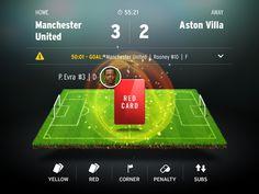UI Design football Dribbble - Red Card by Brijan