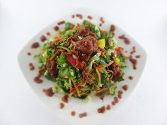 Raw Vegan Green Salad with Thick Marinara Vinaigrette Recipe   Raw Food Bali
