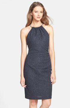 Eliza J 'Glitter Fukuro' Textured Sheath Dress available at #Nordstrom