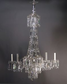 The antique crystal chandelier is restored however, we still require 3 to 4 weeks to have it ready for installation. Description from fritzfryer.co.uk. I searched for this on bing.com/images