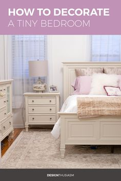 Looking for tiny bedroom ideas for a small dark apartment? These tips will show you how to decorate a small room to look lighter and larger. Simple Apartment Decor, Small Apartment Bedrooms, Funky Home Decor, Elegant Home Decor, Stylish Home Decor, Trendy Home, Elegant Homes, Bedroom Small, Trendy Bedroom
