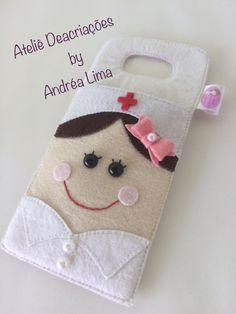 Easy Felt Crafts, Rock Crafts, Diy Crafts For Kids, Handmade Crafts, Fabric Crafts, Sewing Crafts, Sewing Projects, Diy Jewelry Hacks, Pochette Diy