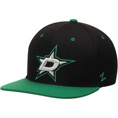0cd85c433a7 Men s Zephyr Black Kelly Green Dallas Stars Z11 Snapback Adjustable Hat