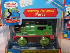 Thomas the Train - PERCY- Battery powered - unopened box w/ working headllights   #train #hobby #thomas the train