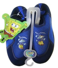3025ffb18088 Blue Spongebob Squarepants Aqua Shoes Size 3 – Spongebob Kids Water Shoes –  Go Shop Shoes