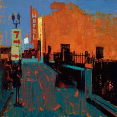 William Wray, Paintings. Ethereal urban landscapes... - SUPERSONIC ART