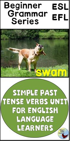 ESL Lessons Past Tense Verbs - These English Grammar past tense verb ESL activities will give your ESL and EFL students plenty of - Teaching English Grammar, English Language Learners, Spanish Language Learning, English Writing Exercises, English Writing Skills, Writing Tips, Writing Prompts, English Help, English Verbs