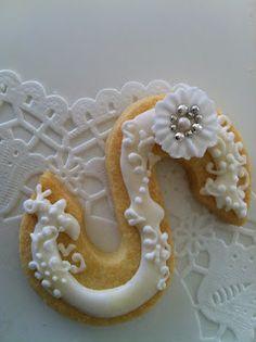 Ornate monogram cookie