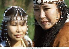Performers of the Chukchee Chukotka folk song and dance company - Stockbild