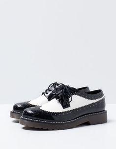 Bershka Turkey - Bershka stamped combined shoes