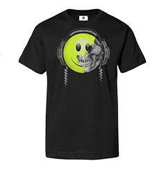 Bedrucktes Herren Streetwear T-Shirt mit Emoji Motiv Killing Beats