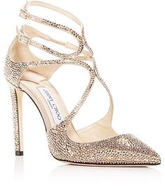 2880a94f0c95 Jimmy Choo Women s Lancer 100 Crystal   Satin Pointed Toe Pumps at  Bloomingdale s. These Jimmy Choo heels are amazing! They are rose gold pumps  and sparkly ...