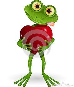 Żaba z sercem