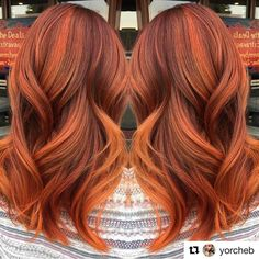 Pumpkin spice hair, copper hair color for auburn ombre brown amber balayage and blonde hairstyles Fall Hair Colors, Red Hair Color, Red Hair Orange Highlights, Red Hair For Fall, Copper Hair Colors, Gorgeous Hair Color, Hair Today, Pretty Hairstyles, Blonde Hairstyles