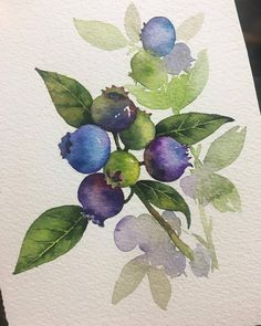 Comment your favourite❤️ 👉More art: Valid tag: Artist: ⠀ Watercolor Fruit, Abstract Watercolor, Watercolor And Ink, Watercolor Illustration, Watercolor Flowers, Watercolor Paintings, Simple Watercolor, Tattoo Watercolor, Watercolor Animals
