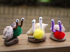 DIY Seashell Snails