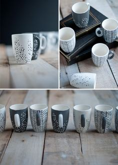 Martha Stewart line's paint. Oven: 350 , 30 minutes. Place in oven while preheating and cool in oven. Leave alone for 72hrs. Paint mugs