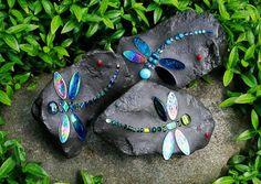 DragonFly RocksDragonfly Mosaics by Carol Deutsch
