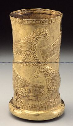 Western Iranian Electrum Beaker with Raptors 14th-13th c. BC