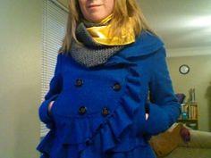 My Half Fabric Half Knit Infinity Scarf