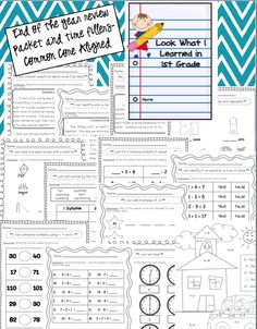 End of the year printables for 1st grade - could be used as morning work, assessments, or time fillers.