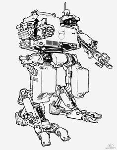 design cuts, IDsoftware. Rage. 2008. mech concept art.