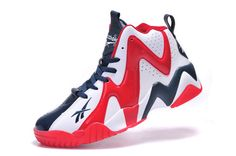 bb7cc4b4384 Reebok Basketball Shoes A Men Reebok Kamikaze II MID V46096 USA White Navy  Red