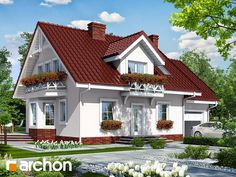 Dom w rododendronach 6 House Paint Exterior, Traditional House, House Painting, Home Fashion, House Plans, Cabin, Architecture, House Styles, Home Decor