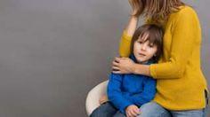 Child being hugged