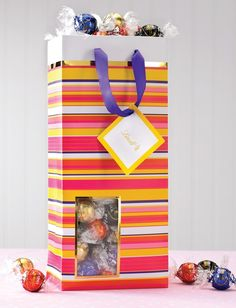 Each reusable Spring gift bag contains 75 Lindor Truffles of your choice ($25.00) - great gift idea for my moms bday or mothers day (both of which are very soon!)